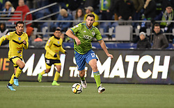 March 1, 2018 - Seattle, Washington, U.S - Soccer 2018: Seattle's WILL BRUIN (17) in action as Santa Tecla FC visits the Seattle Sounders for a CONCACAF match at Century Link Field in Seattle, WA. Seattle won the match 4-0. (Credit Image: © Jeff Halstead via ZUMA Wire)
