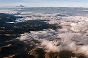 Chimborazo Volcano (Highest mountain in Ecuador) in distance<br /> Andes<br /> ECUADOR, South America