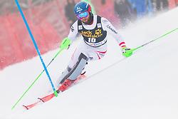 Marco Schwarz during 1st run of Men's Slalom race of FIS Alpine Ski World Cup 57th Vitranc Cup 2018, on March 4, 2018 in Kranjska Gora, Slovenia. Photo by Urban Meglič / Sportida