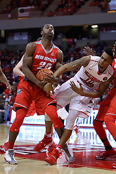 03 December 2016:  Sam Logwood and Phil Fayne(10) get tangled up during an NCAA  mens basketball game between the New Mexico Lobos the Illinois State Redbirds in a non-conference game at Redbird Arena, Normal IL
