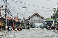 Bangkok, Thailand - December 30, 2013: Amphawa Bangkok floating market gateway at Bangkok, Thailand on december 30th, 2013
