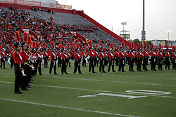 02 September 2017:   Big Red Marching Machine during the Butler Bulldogs at  Illinois State Redbirds Football game at Hancock Stadium in Normal IL (Photo by Alan Look)