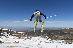 19.03.2017, Ski Stadium, Sierra Nevada, ESP, FIS Freestyle Ski and Snowboard WM, Sierra Nevada 2017, Slope Style Ski, im Bild Alex Bellemare (CAN) during the Men's Slope Style Ski Final // Alex Bellemare (CAN) during the Men's Slope Style Ski Final of the FIS Freestyle Ski & Snowboard World Championships 2017 at the Ski Stadium in Sierra Nevada, Spain on 2017/03/19. EXPA Pictures © 2017, PhotoCredit: EXPA/ Focus Images/ Kristian Kane<br /> <br /> *****ATTENTION - for AUT, GER, FRA, ITA, SUI, POL, CRO, SLO only*****