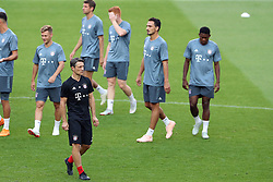 September 18, 2018 - Lisbon, Portugal - Bayern's head coach Niko Kovac from Croatia and his players attend a training session on the eve of the UEFA Champions League Group E football match SL Benfica vs Bayern Munich at the Luz stadium in Lisbon, Portugal on September 18, 2018. (Credit Image: © Pedro Fiuza/NurPhoto/ZUMA Press)