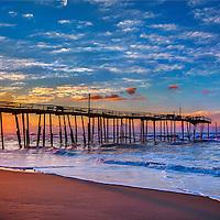 Broken Pier at Sunrise - Cape Hattaras, NC