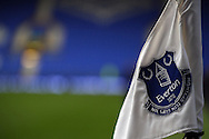 General view of the Everton corned flag. The Emirates FA cup, 3rd round match, Everton v Dagenham & Redbridge at Goodison Park in Liverpool on Saturday 9th January 2016.<br /> pic by Chris Stading, Andrew Orchard sports photography.
