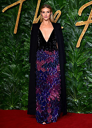 Rosie Huntington-Whiteley attending the Fashion Awards in association with Swarovski held at the Royal Albert Hall, Kensington Gore, London.