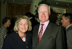 MRS VIVIEN DUFFIELD the multi millionaire art benefactor and SIR JOCELYN STEVENS at a party in London on 30th June 1997.LZU 48