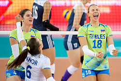 Sasa Planinsec of Slovenia celebrates during the volleyball match between National team of Slovenia and China in Preliminary Round of Womens U23 World Championship 2017, on September 12, 2017 in SRC Stozice, Ljubljana, Slovenia. Photo by Morgan Kristan / Sportida