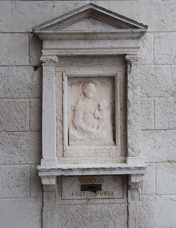 The Sestiere of Castello in Venice, life, traditional,<br /> <br /> <br /> © MARCO SECCHI Votive shrines in Venice for the first time in history were used as well as street light in crucial places of the streets.