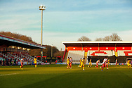Found shot of The Lamex during the EFL Sky Bet League 2 match between Stevenage and Walsall at the Lamex Stadium, Stevenage, England on 20 February 2021.