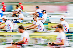 August 3, 2018 - Glasgow, UNITED KINGDOM - 180803 Athletes compete in the Men's Rowing Four repechage during the European Championships on August 3, 2018 in Glasgow..Photo: Jon Olav Nesvold / BILDBYRÃ…N / kod JE / 160281 (Credit Image: © Jon Olav Nesvold/Bildbyran via ZUMA Press)