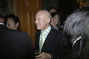 Lord Foster, Party for Jean Pigozzi hosted by Ivor Braka to thank him for the loan exhibition 'Popular Painting' from Kinshasa'  at Tate Modern. Cadogan sq. London. 29 May 2007.  -DO NOT ARCHIVE-© Copyright Photograph by Dafydd Jones. 248 Clapham Rd. London SW9 0PZ. Tel 0207 820 0771. www.dafjones.com.