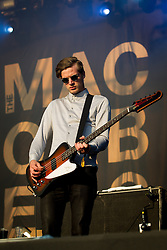 © Licensed to London News Pictures . 08/06/2013 . Heaton Park , Manchester , UK . Rupert Jarvis of The Maccabees on the main stage . Day 1 of the Parklife music festival in Manchester on Saturday 8th June 2013 . Photo credit : Joel Goodman/LNP