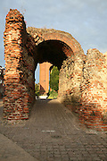 The Balkerne Gate, the largest surviving Roman gateway in Britain, Colchester, Essex, England