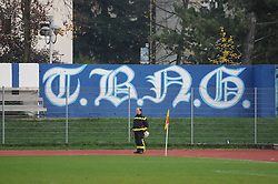 View on the stadium during football match between ND Gorica and ND Mura 05 in 20th Round of Prva liga NZS 2012/13, on November 24, 2012 in Nova Gorica, Slovenia. (Photo by Ales Cipot / Sportida).