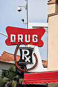 Drug RX Sign on the Balboa Pharmacy Building