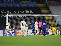 Football - 2020 / 2021 Europa League - Group F - Leicester City vs Zorya Luhansk - King Power Stadium<br /> <br /> Leicester City's James Maddison scores the opening goal.<br /> <br /> COLORSPORT/ASHLEY WESTERN