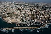 Aerial Photography of Jaffa port, Israel