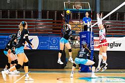 Eva Zatkovic of Calcit Volley during 3rd Leg Volleyball match between Calcit Volley and Nova KBM Maribor in Final of 1. DOL League 2020/21, on April 17, 2021 in Sportna dvorana, Kamnik, Slovenia. Photo by Matic Klansek Velej / Sportida