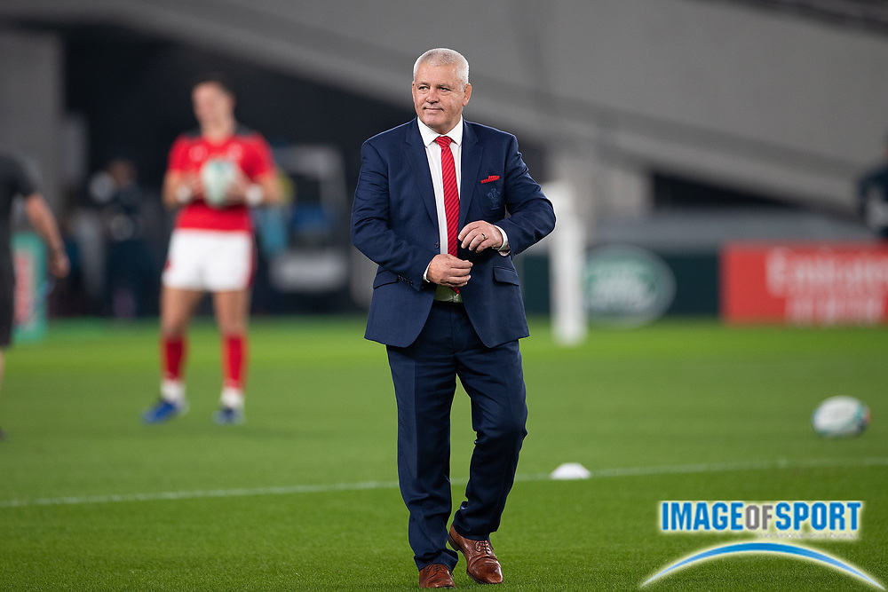 Warren Gatland, coach of Wales before the Rugby World Cup bronze final match between New Zealand and Wales Friday, Nov, 1, 2019, in Tokyo. New Zealand defeated Wales 40-17.  (Flor Tan Jun/Espa-Images-Image of Sport)