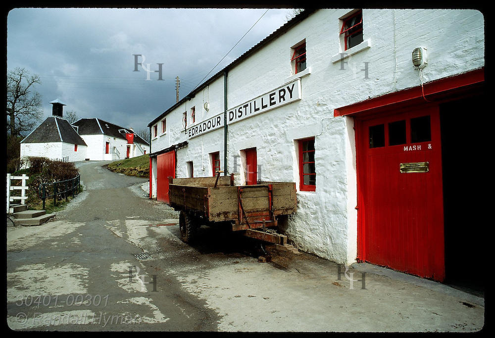 The Edradour Distillery is Scotland's smallest (est 1825), making 12 casks of whisky/wk; Pitlochry Scotland