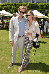 Lord Settrington, Eléonore Decaux at the Cartier Style et Luxe at the Goodwood Festival of Speed, Goodwood, West Sussex, England. 2 July 2017.<br /> Photo by Dominic O'Neill/SilverHub 0203 174 1069 sales@silverhubmedia.com