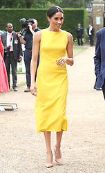 The Duchess of Sussex during the Your Commonwealth Youth Challenge reception at Marlborough House in London.