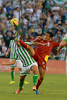 Dani (L)  and A.J. Rios (R) during the match between Real Betis and Recreativo de Huelva day 10 of the spanish Adelante League 2014-2015 014-2015 played at the Benito Villamarin stadium of Seville. (PHOTO: CARLOS BOUZA / BOUZA PRESS / ALTER PHOTOS)