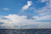 Manaus harbour seen from the water, Rio Negro black river. Manaus is a centre of industry in Brazil, even though it is not accessible by road, it is still the second largest producer of instrial goods in Brazil, after Sao Paulo.