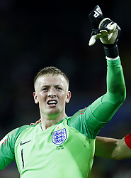 July 3, 2018 - Moscow, Russia - Jordan Pickfordand of England celebrates the victory after the penalty shootout of the 2018 FIFA World Cup Russia Round of 16 match between Colombia and England at Spartak Stadium on July 3, 2018 in Moscow, Russia. (Credit Image: © Matteo Ciambelli/NurPhoto via ZUMA Press)