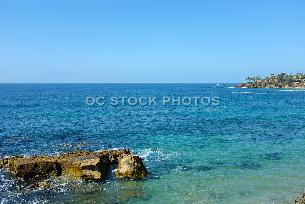 Rock Formation in the Pacific Ocean in Laguna Beach