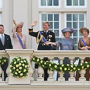 NLD/Den Haag/20100921 - Prinsjesdag 2010, Prinses Laurentien, Prins Constatijn, Prinses maxima, Prins Willem - Alexander, Koningin Beatrix, Prinses Margriet en Mr. Pieter van Vollenhoven
