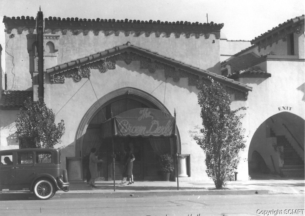 1931 Brown Derby Restaurant on Vine Street in Hollywood