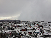 Back in the freezer! Four dead as temperatures plunge to 23F in New York City, 100 are stranded on upstate highway and the mercury sinks to below freezing in all 50 states<br /> <br /> Photo shows: Covered: Lake effect snow hammered Buffalo, New York, and the surrounding suburbs - dumping up to five feet between Monday night and Tuesday<br /> ©Joseph DeBenedictis/Exclusivepix