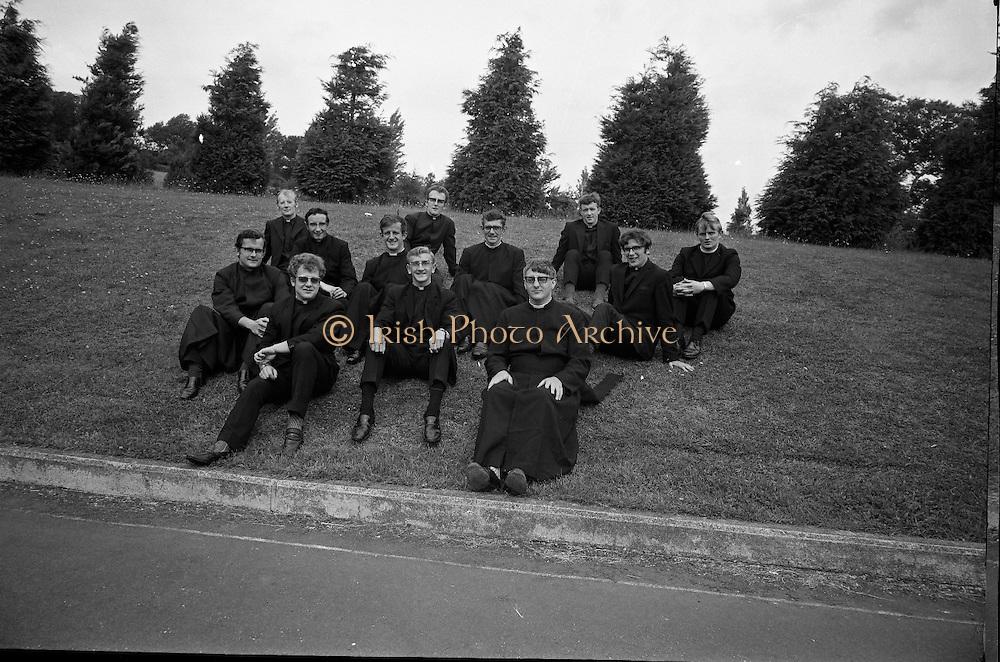 Christian Brothers .1972..11.08.1972..08.11.1972..11th August 1972..At St Marys,Christian Brothers College,Bray, the Christian Brothers prepare for their final profession before they move to the different provincial houses throughout the country...Included in this group picture are, Brothers, P C O'Keefe,Kimmage,Dublin, James Bagnall,Artane,Dublin, B D O'Reilly,Finglas,Dublin, G R Carberry,Donnycarney,Dublin, R W Warren,Sallynoggin,Dublin, P A Byrne,Drimnagh,Dublin, Oliver O'Sullivan,Crumlin,Dublin, .Brian Molloy,Rathfarnham,Dublin, .P E Hendrick,Rathgar,Dublin, N Roche,Portabello,Dublin, H G  Molloy,Ballsbridge,Dublin and Eugene O'Reilly, Bray, Wicklow.