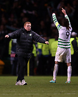 Football - 2012 / 2013 Champions League - Group G: Celtic vs. Spartak Moscow<br /> <br /> Colorsport<br /> <br /> Neil Lennon the manager of Celtic celebrates at the final whistle during the Champions League Group G match between  Celtic vs. Spartak Moscow at Celtic Park, Glasgow<br /> <br /> 6th December 2012