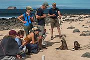 Group & sealions<br /> North Seymour Island<br /> Galapagos<br /> Ecuador,  South America<br /> Cili, Tullia, Coco Corbisiero, Ginny Carter, Parker Seagren, Scott Lang