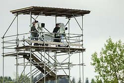 TV Camera during football match between NK Domzale and NK Olimpija in 32nd Round of Prva liga Telekom Slovenije 2020/21, on May 5, 2021 in Sports park Domzale, Slovenia. Photo by Vid Ponikvar / Sportida