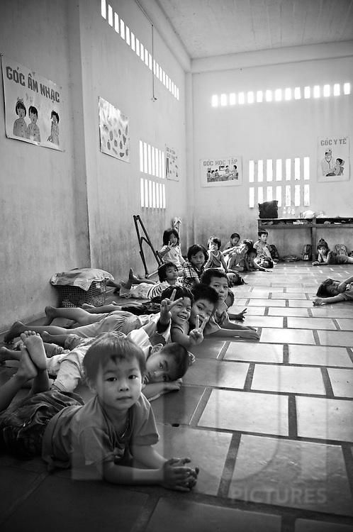 Children in a Buddhist orphanage of Nha Trang, Khanh Hoa Province, Vietnam, Southeast Asia