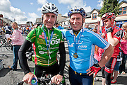 Sean Kelly with Philip Colleran,Ennis who won the Etap Hibernia Sky Ride in Ennis on Sunday. Photograph by Eamon Ward