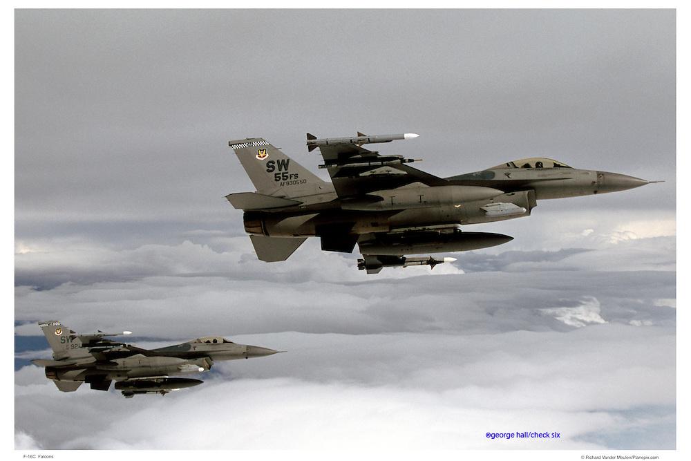 F-16Cs, air-to-air