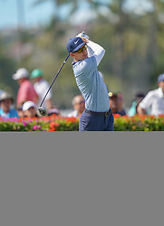 January 10, 2019 - Honolulu, HI, U.S. - HONOLULU, HI - JANUARY 10: Dylan Frittelli of South Africa tees off on the 10th tee during the first round of the Sony Open at the Waialae Counrty Club in Honolulu, HI. (Photo by Darryl Oumi/Icon Sportswire) (Credit Image: © Darryl Oumi/Icon SMI via ZUMA Press)