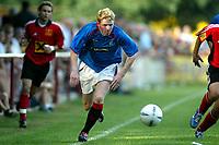 Fotball<br /> Skottland 2004/05<br /> Treningskamp<br /> FC Fuerstenfeld vs Glasgow Rangers<br /> 18. juli 2004<br /> Foto: Digitalsport<br /> NORWAY ONLY<br /> Chris Burke (Rangers)