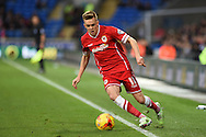 Craig Noone of Cardiff city in action. Skybet football league championship match, Cardiff city v Rotherham Utd at the Cardiff city stadium in Cardiff, South Wales on Saturday 6th December 2014<br /> pic by Andrew Orchard, Andrew Orchard sports photography.