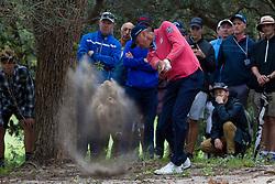 November 15, 2018 - Sydney, NSW, U.S. - SYDNEY, AUSTRALIA - NOVEMBER 15: Matt Kuchar (USA) plays out from the rough at Day 1 of The Emirates Australian Open Golf on November 15, 2019, at The Lakes Golf Club in Sydney, Australia. (Photo by Speed Media/Icon Sportswire) (Credit Image: © Speed Media/Icon SMI via ZUMA Press)