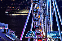 Seattle Great Wheel & Washington State Ferry, Waterfront