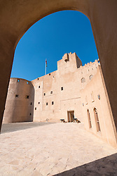 Exterior view of historic  Jabrin Fort in Oman