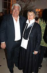 Chef ANTONIO CARLUCCIO and his wife PRISCILLA CARLUCCIO at a party to celebrate the opening of Jasper Conran's new shop and HQ at 36 Sackville Street, London W1 on 15th February 2005.<br /><br />NON EXCLUSIVE - WORLD RIGHTS