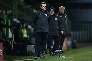 Forest Green Rovers manager, Mark Cooper during the The FA Cup 1st round replay match between Forest Green Rovers and Oxford United at the New Lawn, Forest Green, United Kingdom on 20 November 2018.